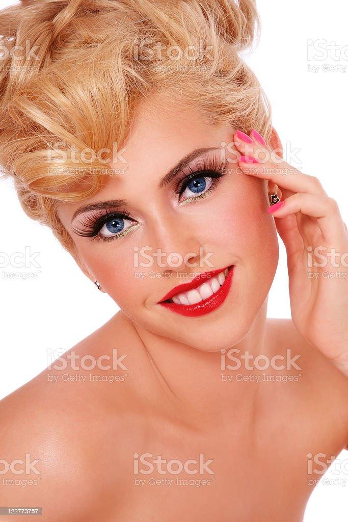 Smiling blonde royalty-free stock photo
