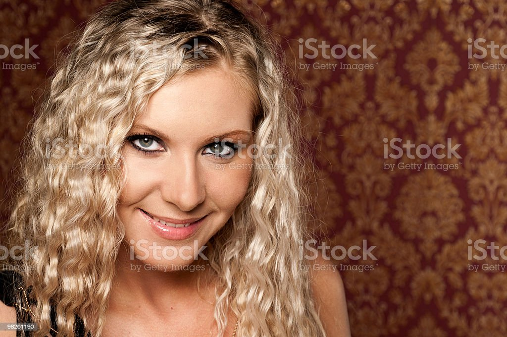 Smiling blonde royalty-free stock photo