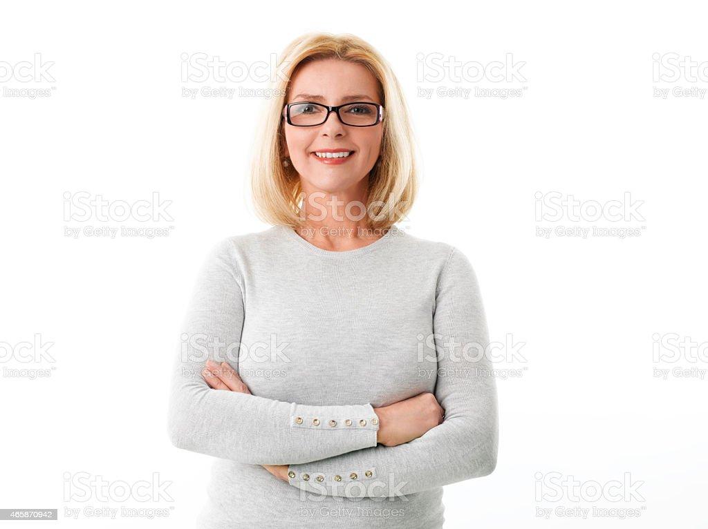portrait de femme d'affaires d'âge mûr - Photo