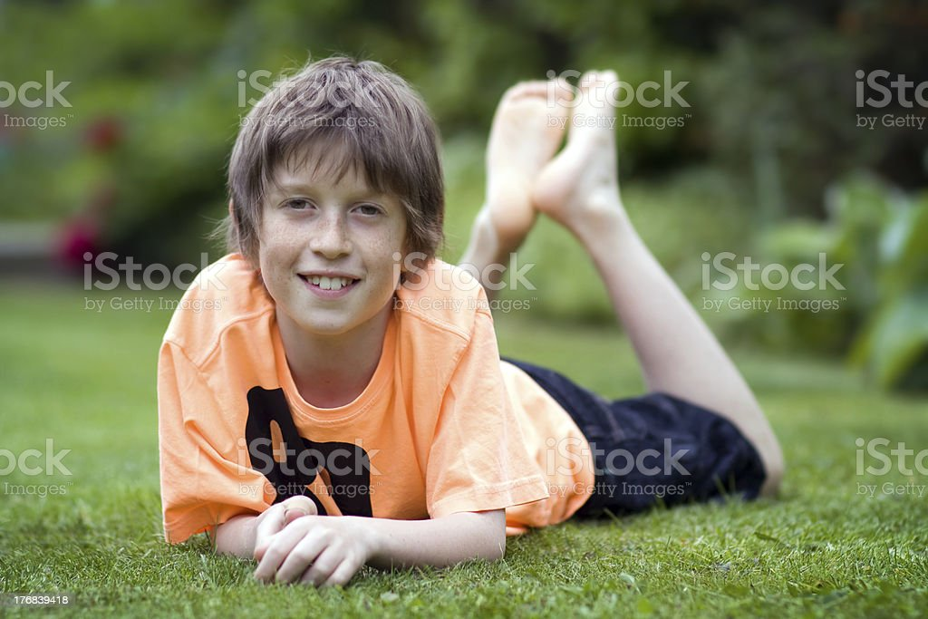 Smiling boy stock photo