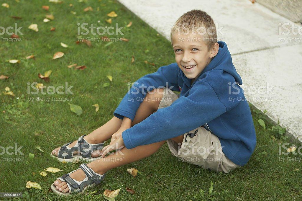 Menino sorridente - foto de acervo
