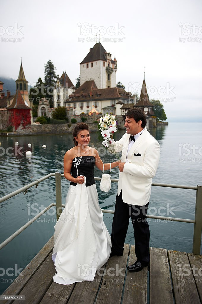 Smiling Bride And Groom royalty-free stock photo