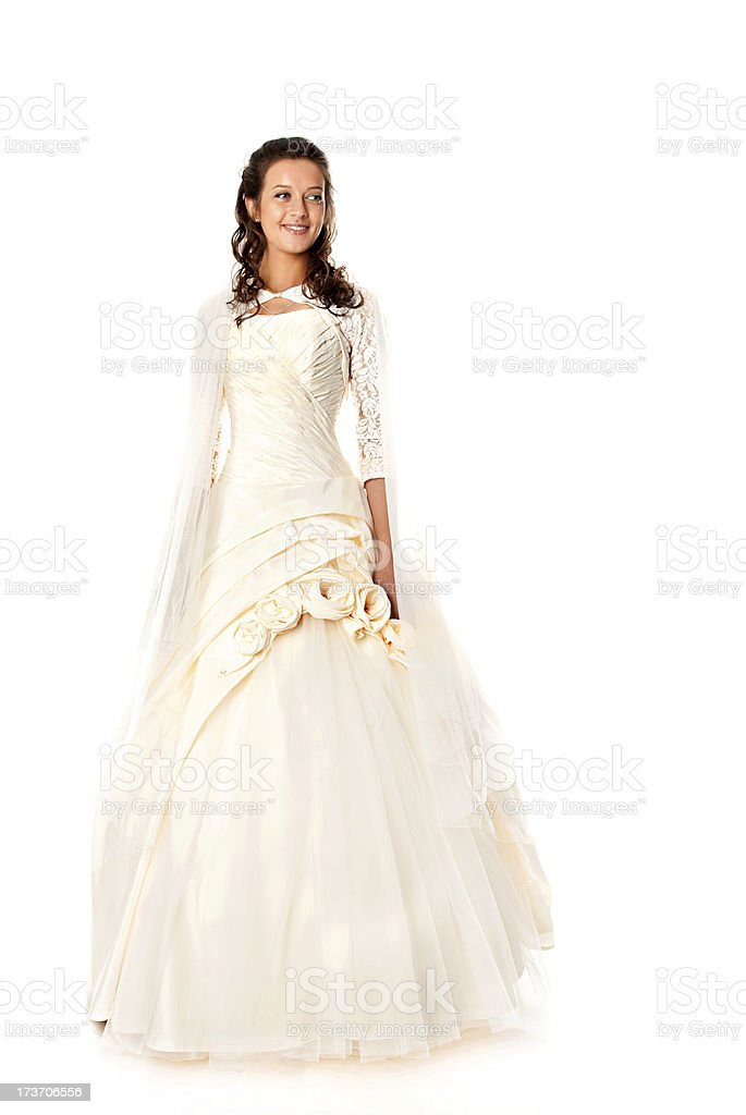 smiling bride royalty-free stock photo