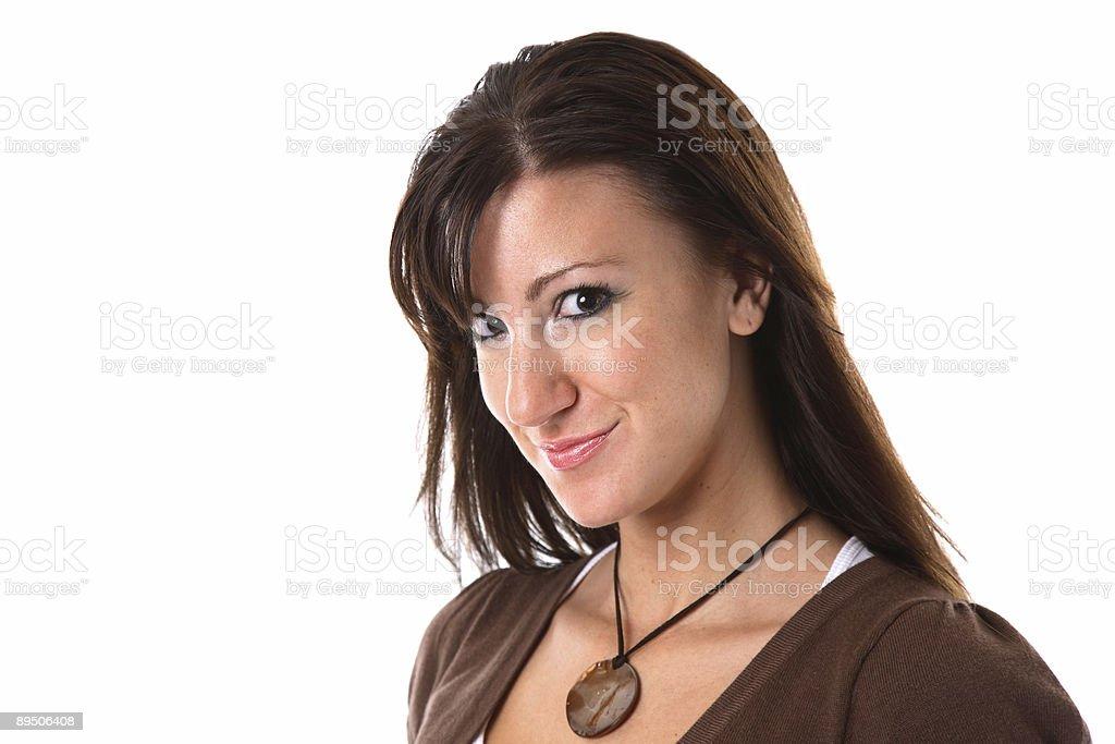 Smiling Brunette royalty-free stock photo
