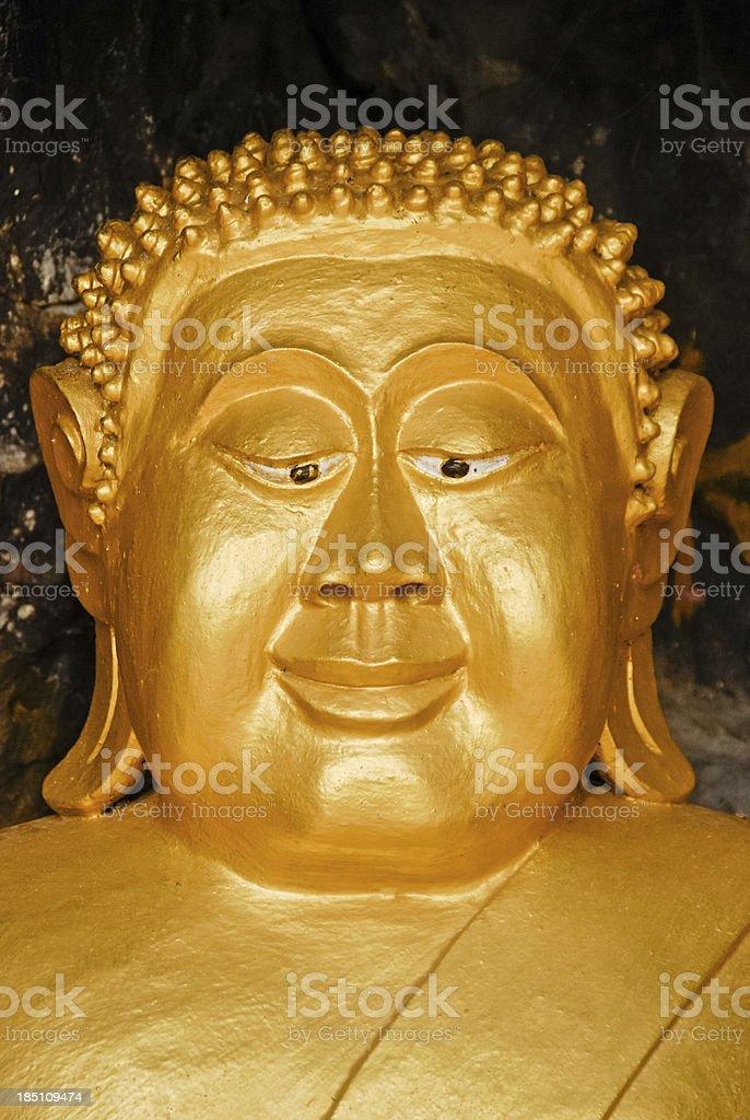 Smiling Buddha in Monte Phousi royalty-free stock photo
