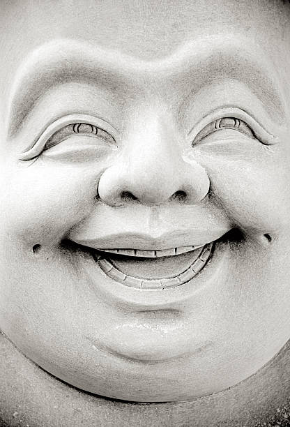 Smiling Buddha stock photo
