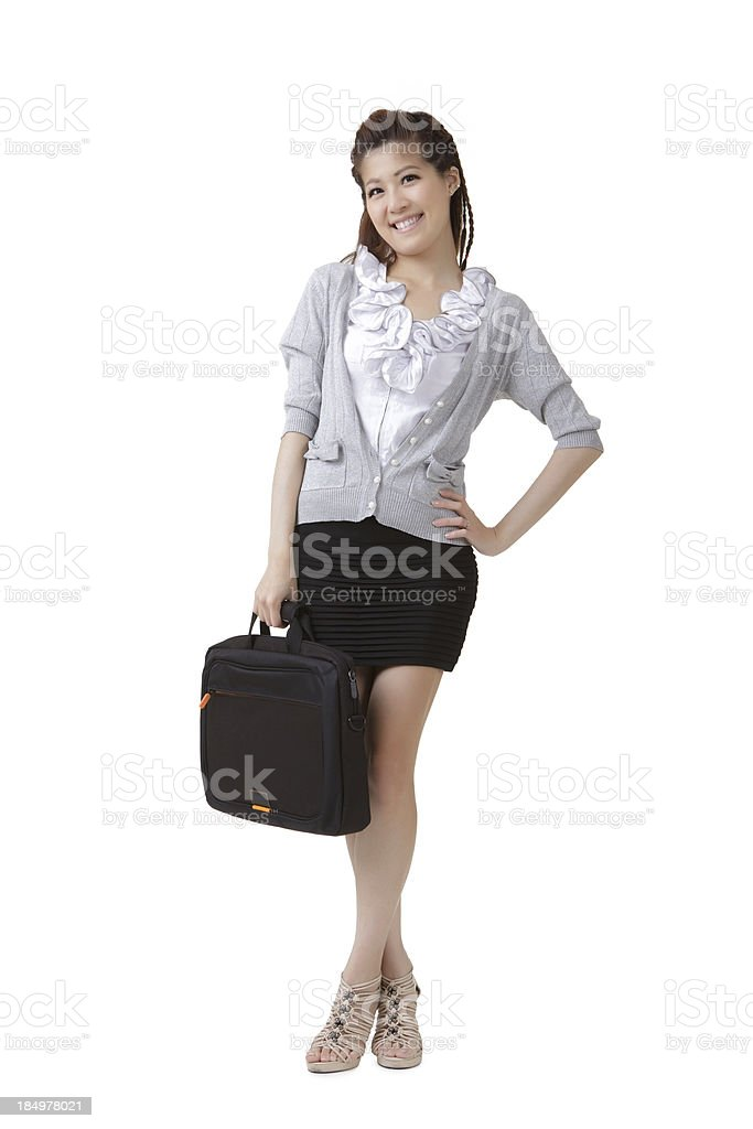 smiling business lady royalty-free stock photo