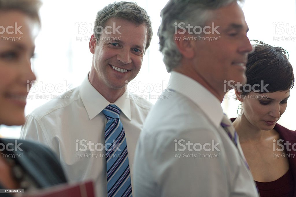 Smiling business people royalty-free stock photo
