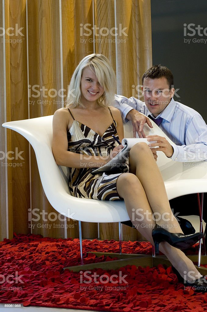 smiling business people royalty free stockfoto