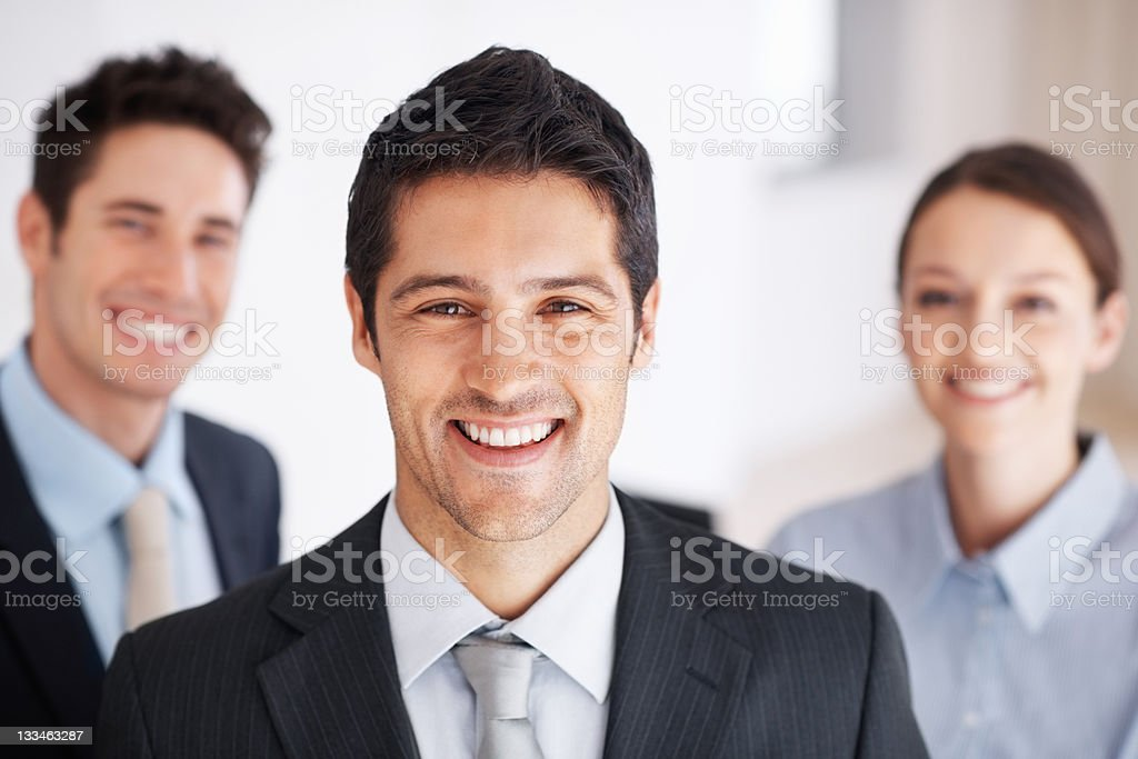 Smiling business team royalty-free stock photo