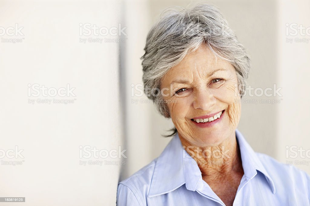 Smiling business woman - copyspace royalty-free stock photo