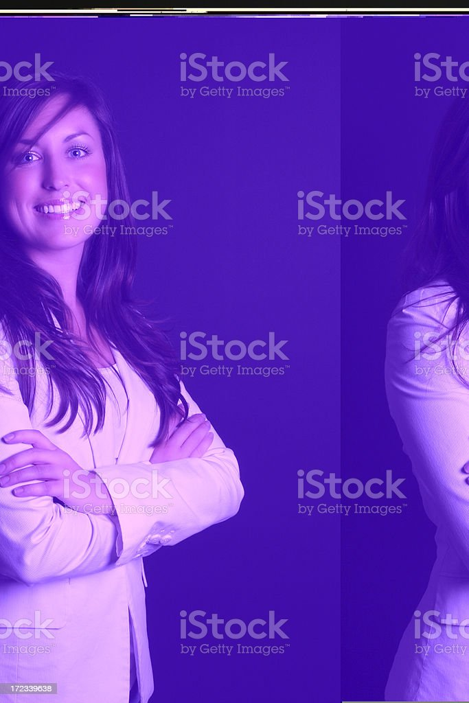 Smiling business woman royalty-free stock photo