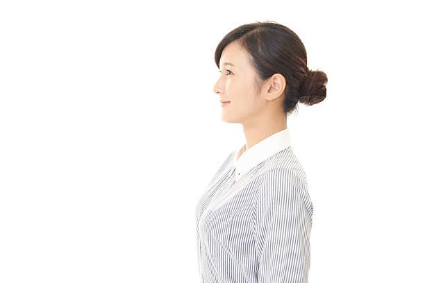 笑顔のビジネス女性 - 東洋民族 ストックフォトと画像