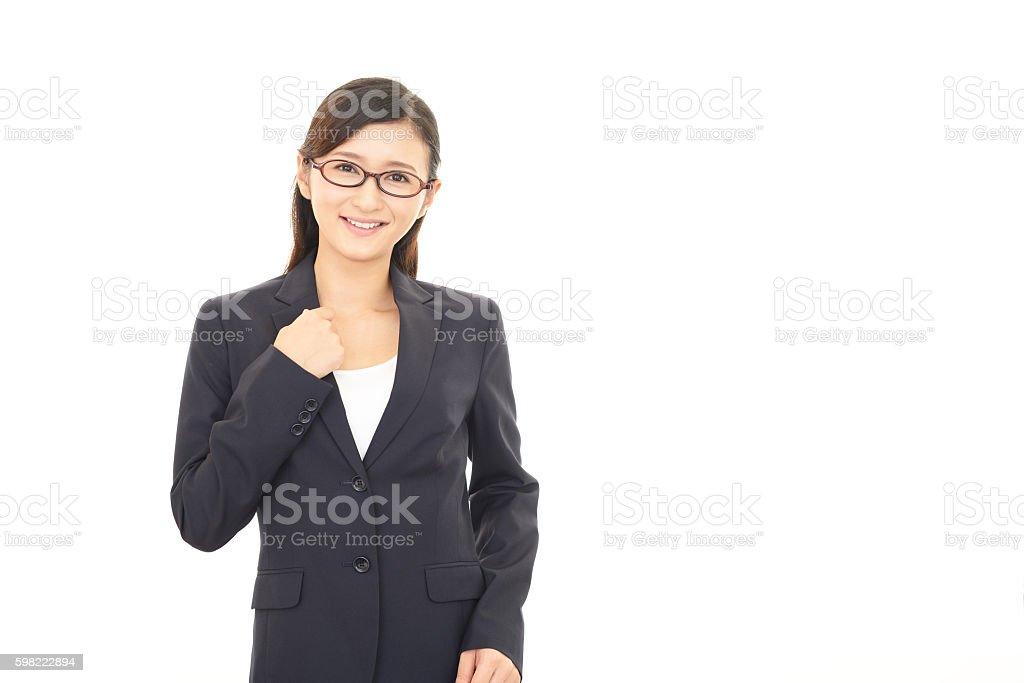 Sorrindo Mulher de negócios  foto royalty-free