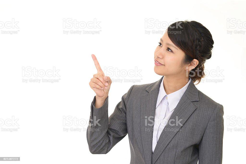 Lächeln business Frau  Lizenzfreies stock-foto