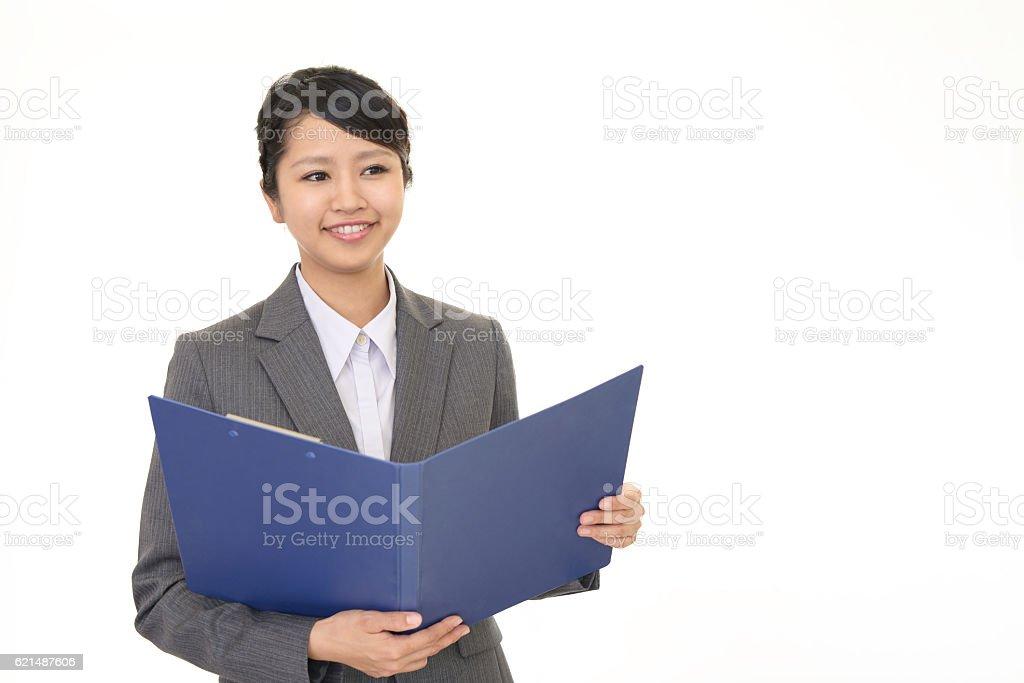 Donna d'affari sorridente  foto stock royalty-free