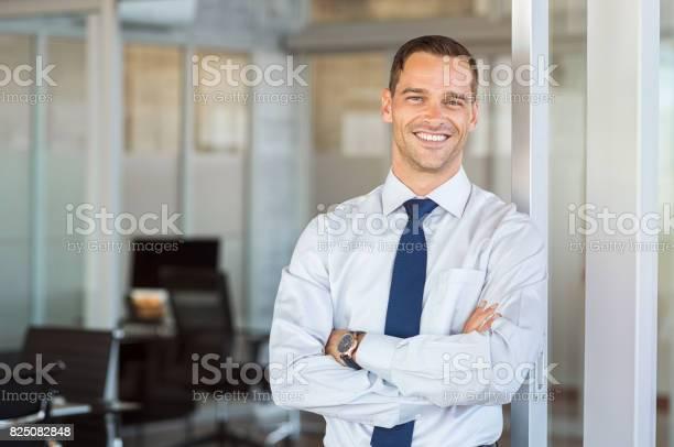 Smiling businessman at office picture id825082848?b=1&k=6&m=825082848&s=612x612&h=1r0wzmjfczv7n766h11xhmvauda qaepgyglb6byh4u=