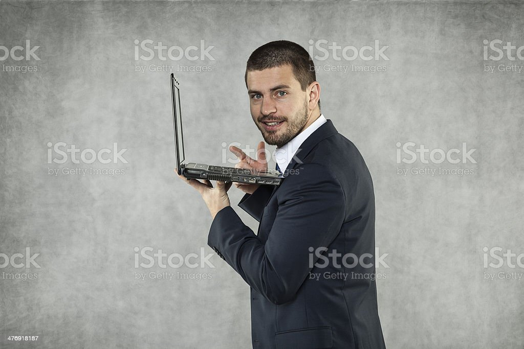 Checks By Mail >> Smiling Businessman Checks The Mail Stock Photo Download