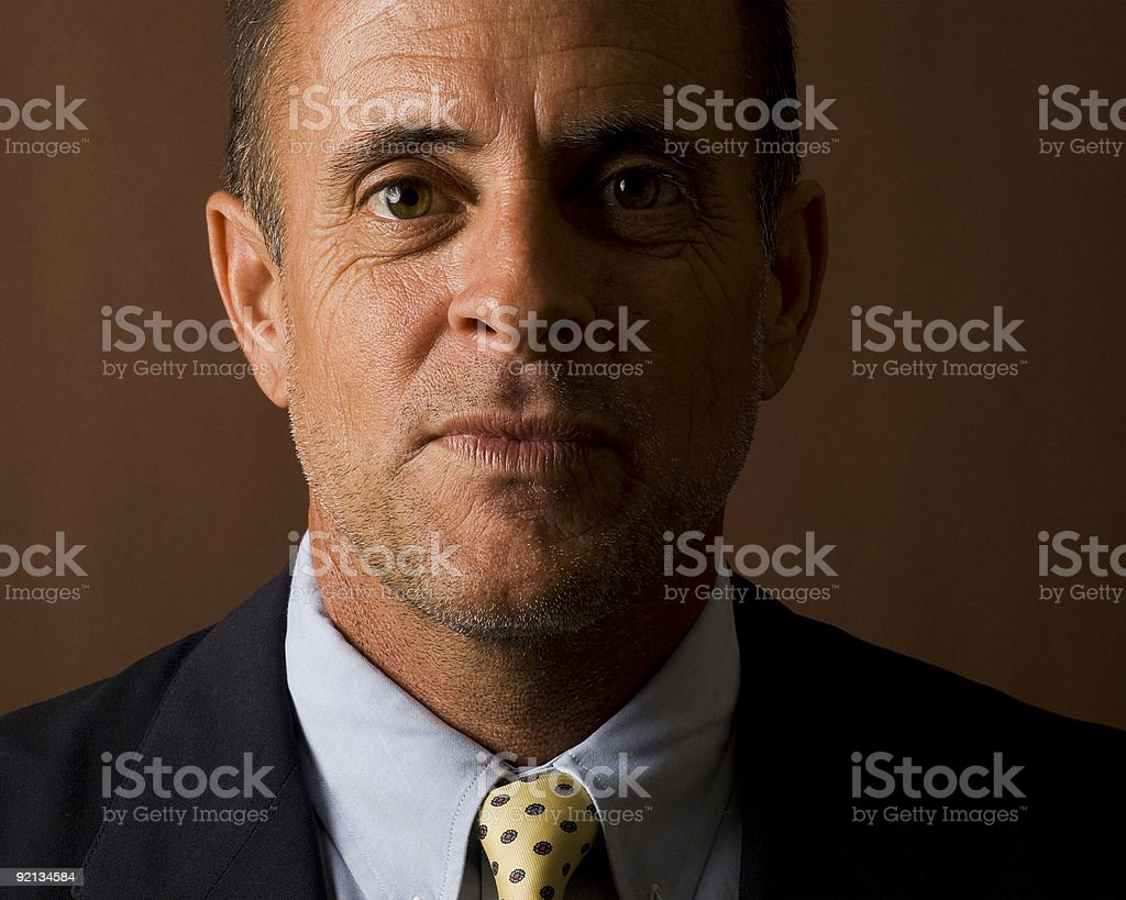 Smiling Businessman In A Suit royalty-free stock photo