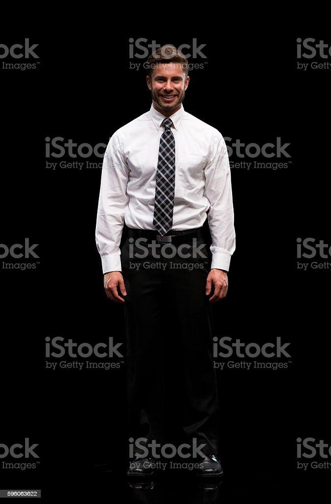 Smiling businessman looking at camera royalty-free stock photo