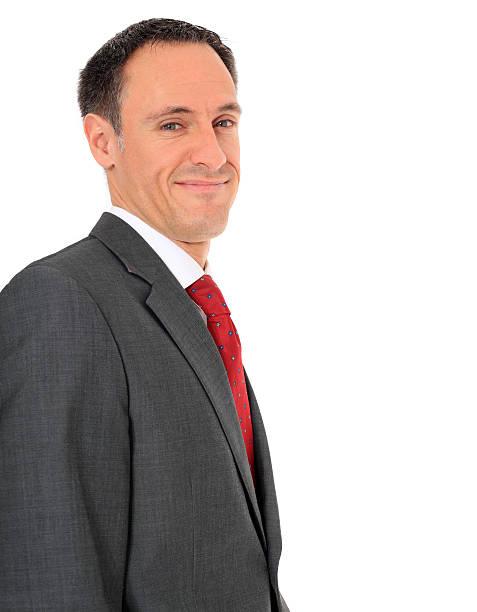 sonriente hombre de negocios - gerente de cuentas fotografías e imágenes de stock