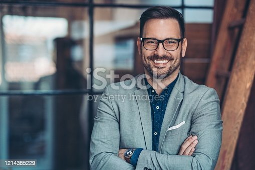 Portrait of a smiling businessman