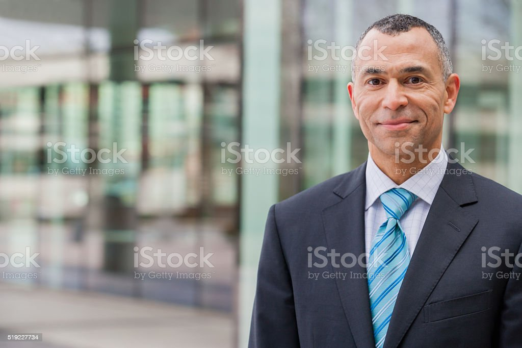 Smiling businessman stock photo