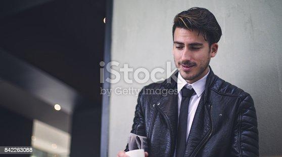istock Smiling businessman 842263088