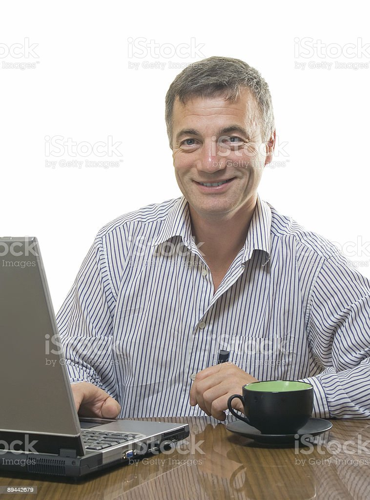 Sonriente hombre de negocios foto de stock libre de derechos