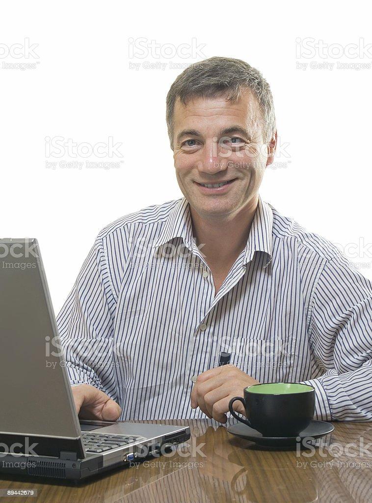 Uomo d'affari sorridente foto stock royalty-free