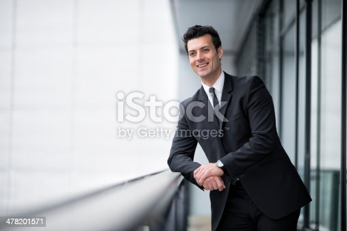 istock smiling businessman relaxing 478201571