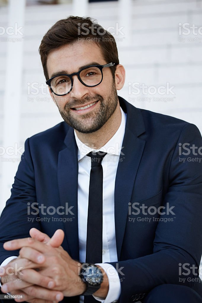 Smiling businessman with spectacles, portrait Lizenzfreies stock-foto