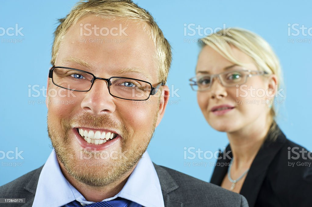 Smiling businesspeople royalty-free stock photo