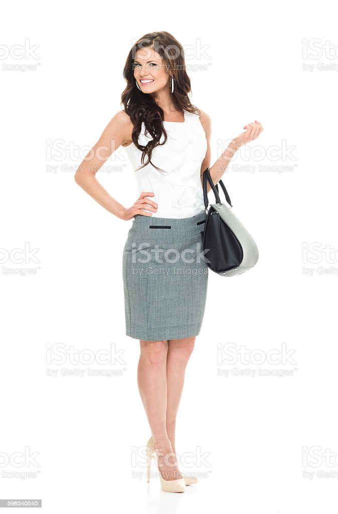 Smiling businesswoman looking at camera royalty-free stock photo