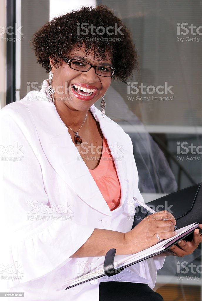 Smiling Businesswoman Office Portrait royalty-free stock photo