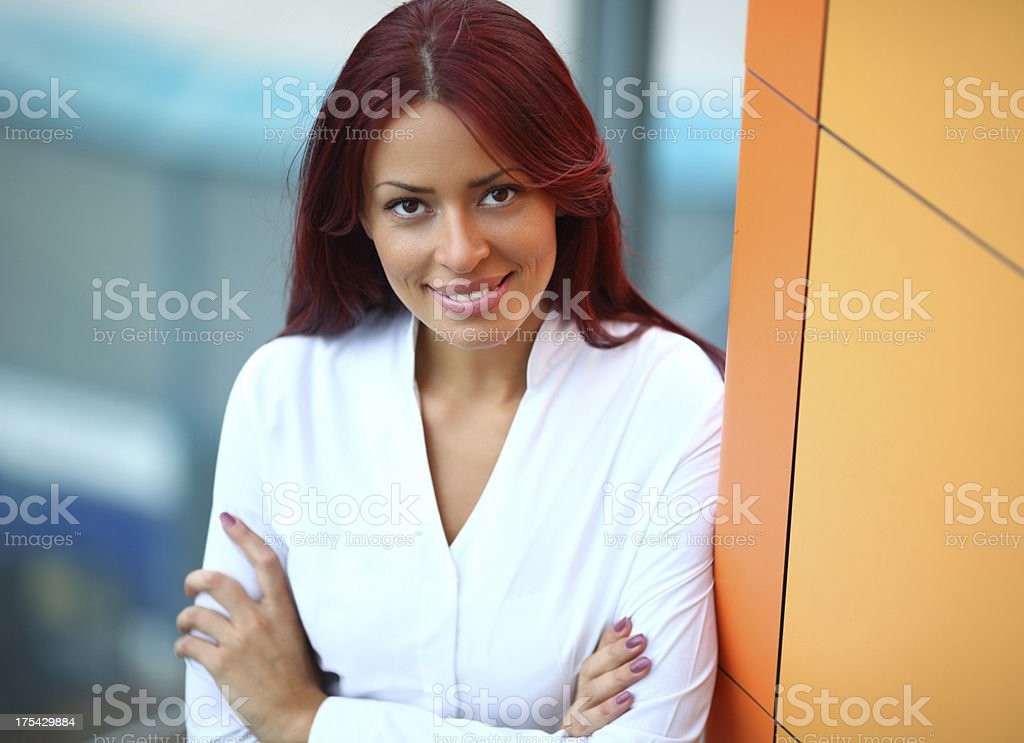 Smiling businesswoman. stock photo