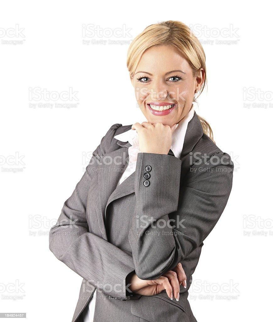 Lächelnd Geschäftsfrau. – Foto
