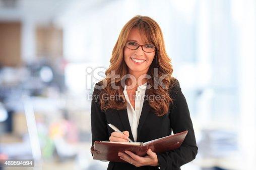 1150572074istockphoto Smiling businesswoman 469594594
