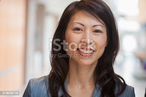 istock Smiling businesswoman 519036726