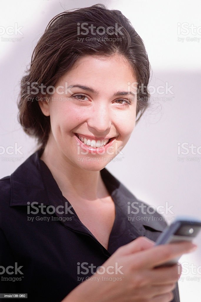 Smiling businesswoman royalty free stockfoto