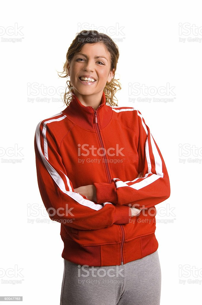 Smiling Casual Girl royalty-free stock photo