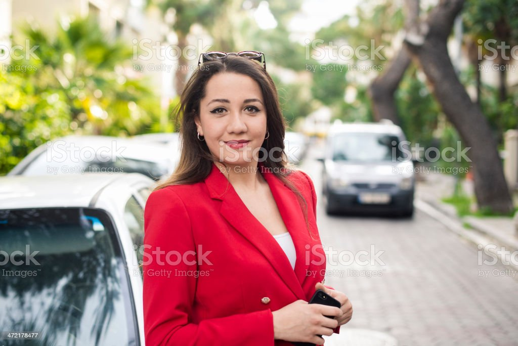Smiling Caucaian Young Woman stock photo