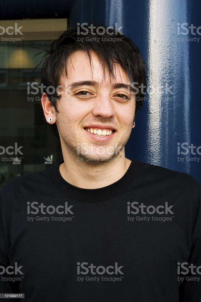 Smiling Caucasian young man royalty-free stock photo