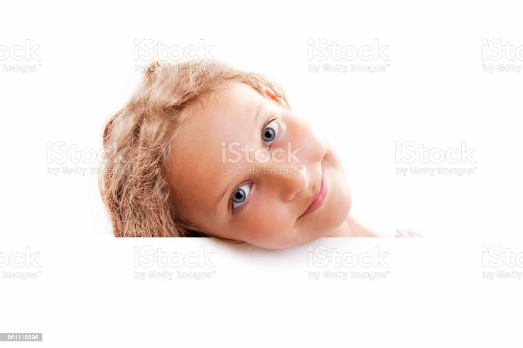 Smiling Child Girl Banner royalty-free stock photo
