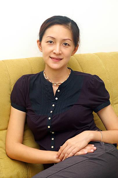 Smiling Chinese Lady stock photo
