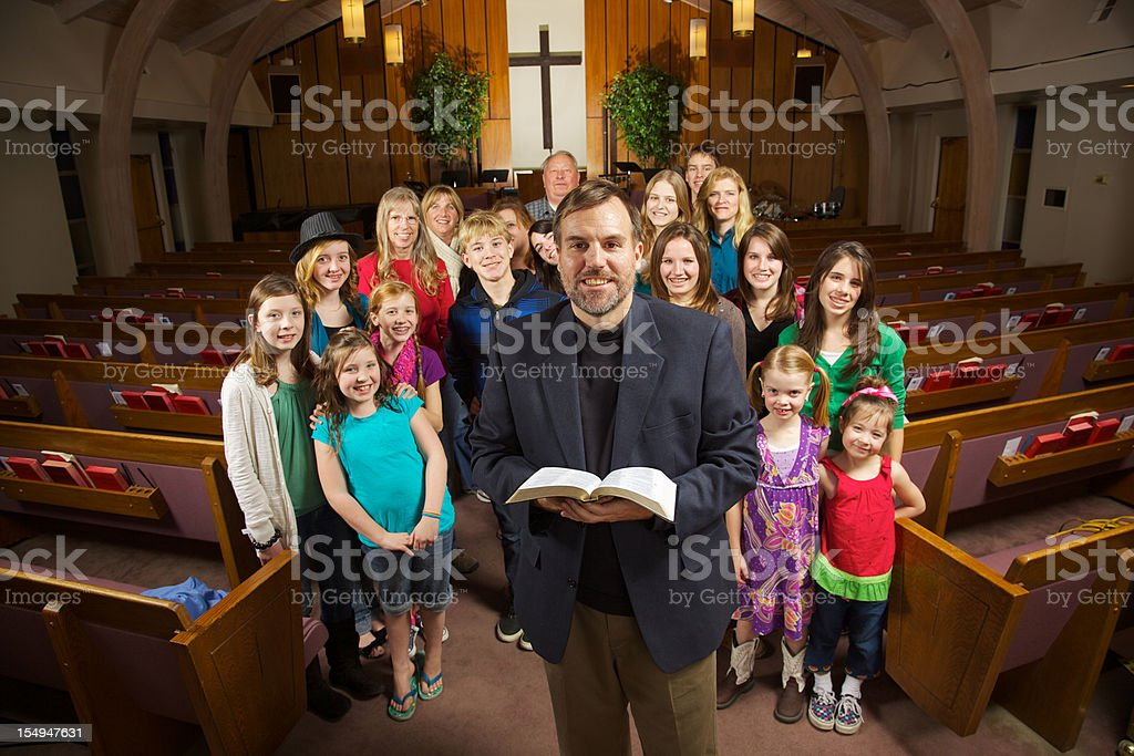 Smiling Church stock photo