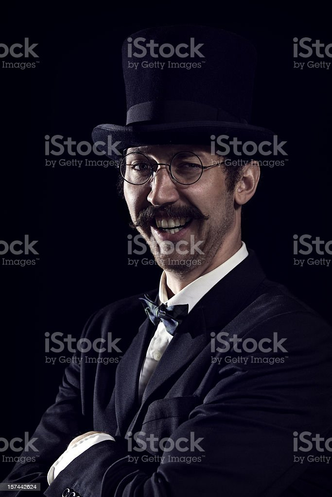 Smiling Classy Mustache Gentleman /Business Man stock photo