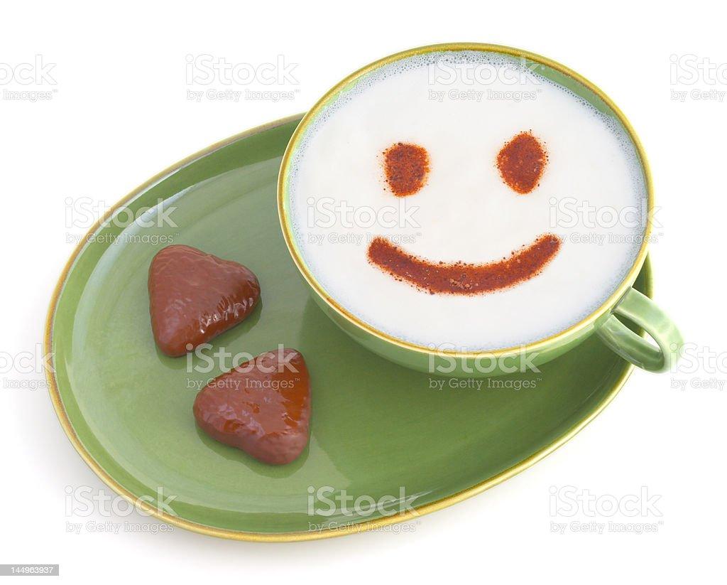 Sonriendo café - foto de stock
