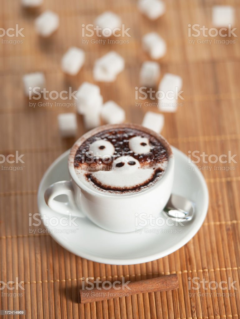 Smiling coffee royalty-free stock photo