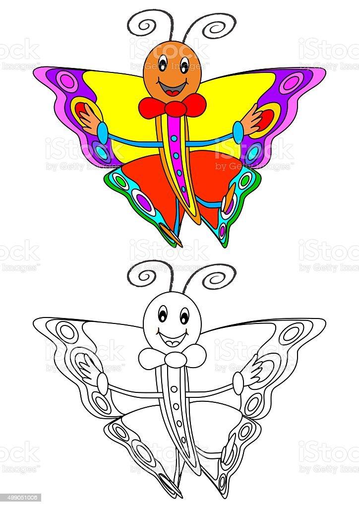 Fotografía de Sonriendo Hermosa Mariposa Como Un Libro Para Colorear ...